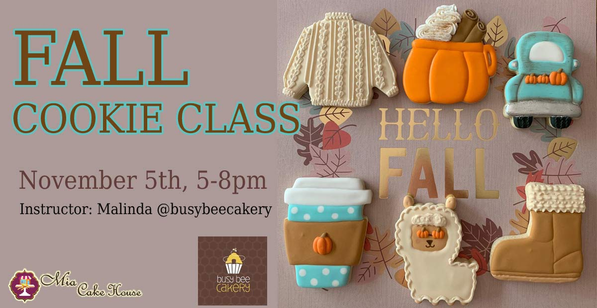 5-8pm: FALL COOKIE DECORATING