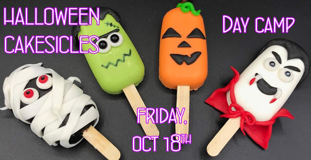 HALLOWEEN CAKESICLES  DAY CAMP